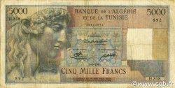 5000 Francs type 1946 Apollon modifié ALGÉRIE  1951 P.109a TB+