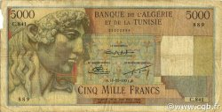 5000 Francs ALGÉRIE  1951 P.109a B+