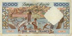 10000 Francs type 1952 mouettes ALGÉRIE  1955 P.110 TTB