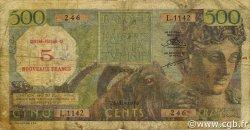 5 NF sur 500 Francs ALGÉRIE  1956 P.111 B