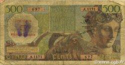 5 NF sur 500 Francs type 1952 modifié 1959 ALGÉRIE  1956 P.111 B+