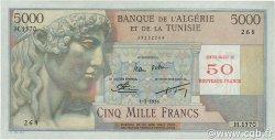 50 NF sur 5000 Francs type 1946 modifié 1959 ALGÉRIE  1956 P.113 SPL