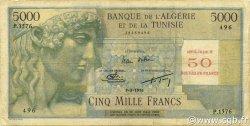 50 NF sur 5000 Francs type 1946 modifié 1959 ALGÉRIE  1956 P.113 B à TB