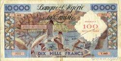 100 NF sur 10000 Francs ALGÉRIE  1958 P.114 TB