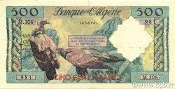 500 Francs type 1958 vautours ALGÉRIE  1958 P.117 pr.SUP