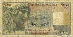 50 Nouveaux Francs type 1946 modifié 1959 ALGÉRIE  1959 P.120a B à TB