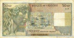 50 Nouveaux Francs type 1946 modifié 1959 ALGÉRIE  1959 P.120a pr.TTB