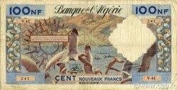 100 Nouveaux Francs ALGÉRIE  1959 P.121a TB