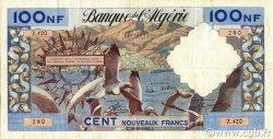 100 Nouveaux Francs type 1952 modifié 1959 ALGÉRIE  1961 P.121b TB+
