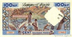 100 Nouveaux Francs type 1952 modifié 1959 ALGÉRIE  1959 P.121s SPL