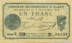 1 Franc ALGER ALGÉRIE ALGER 1914 JP.137.03 SUP