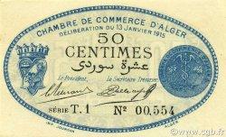 50 Centimes ALGER ALGÉRIE ALGER 1915 JP.137.08 NEUF
