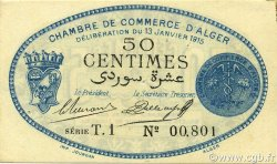 50 Centimes ALGÉRIE Alger 1915 JP.137.08 SUP+