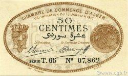 50 Centimes ALGER ALGÉRIE Alger 1915 JP.137.09 SUP+
