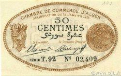 50 Centimes ALGÉRIE Alger 1915 JP.137.09 NEUF