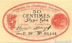 50 Centimes ALGER ALGÉRIE ALGER 1919 JP.137.11 pr.NEUF