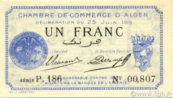 1 Franc ALGER ALGÉRIE ALGER 1919 JP.137.12 NEUF