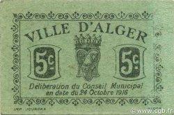 5 Centimes ALGER ALGÉRIE ALGER 1916 JPCV.01 SPL
