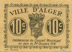 10 Centimes ALGER ALGÉRIE ALGER 1916 JPCV.03 SPL