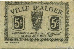 5 Centimes ALGER ALGÉRIE ALGER 1917 JPCV.06 NEUF