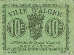 10 Centimes ALGÉRIE Alger 1917 JPCV.07var pr.NEUF