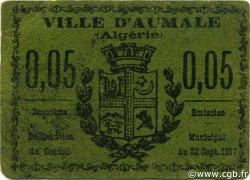 5 Centimes ALGÉRIE Aumale 1917 JPCV.03 TTB