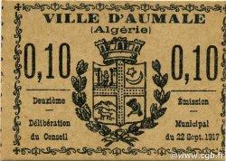 10 Centimes AUMALE ALGÉRIE AUMALE 1917 JPCV.04 NEUF