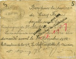 5 Francs BÉNISAF ALGÉRIE BÉNISAF 1914 JPCV.04 pr.TTB