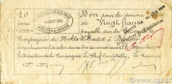 20 Francs BÉNISAF ALGÉRIE BÉNISAF 1914 JPCV.05 TTB