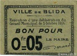 5 Centimes ALGÉRIE Blida 1916 JPCV.01 NEUF