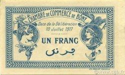 1 Franc ALGÉRIE Bône 1917 JP.138.05 SUP