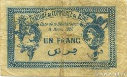 1 Franc ALGÉRIE Bône 1920 JP.138.13 TB+