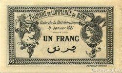 1 Franc BÔNE ALGÉRIE Bône 1921 JP.138.15 SUP+