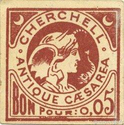 5 Centimes ALGÉRIE Cherchell 1916 JPCV.01 SUP