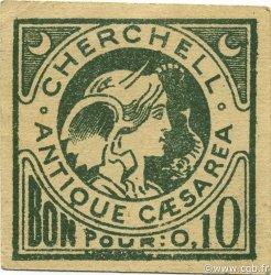 10 Centimes CHERCHELL ALGÉRIE CHERCHELL 1916 JPCV.02 pr.NEUF