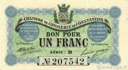 1 Franc ALGÉRIE Constantine 1915 JP.140.04 NEUF