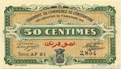 50 Centimes CONSTANTINE ALGÉRIE CONSTANTINE 1916 JP.140.08 NEUF
