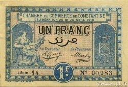 1 Franc CONSTANTINE ALGÉRIE CONSTANTINE 1918 JP.140.18 SPL