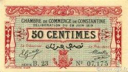 50 Centimes CONSTANTINE ALGÉRIE Constantine 1919 JP.140.19 SUP+
