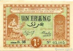 1 Franc CONSTANTINE ALGÉRIE CONSTANTINE 1919 JP.140.20 SPL