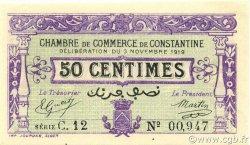 50 Centimes CONSTANTINE ALGÉRIE CONSTANTINE 1919 JP.140.21 pr.NEUF
