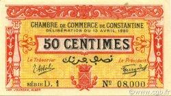 50 Centimes CONSTANTINE ALGÉRIE CONSTANTINE 1920 JP.140.23 pr.NEUF