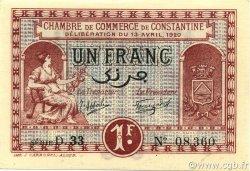 1 Franc ALGÉRIE Constantine 1920 JP.140.24 NEUF