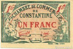 1 Franc CONSTANTINE ALGÉRIE Constantine 1921 JP.140.30v SUP+
