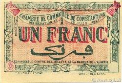 1 Franc ALGÉRIE Constantine 1921 JP.140.30v SUP+