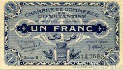 1 Franc CONSTANTINE ALGÉRIE CONSTANTINE 1922 JP.140.37 SUP