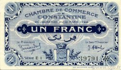 1 Franc CONSTANTINE ALGÉRIE CONSTANTINE 1922 JP.140.39 SUP+