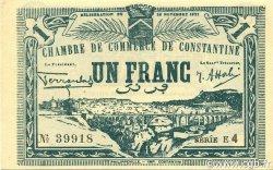 1 Franc CONSTANTINE ALGÉRIE CONSTANTINE 1922 JP.140.44 NEUF