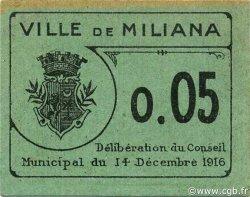 5 Centimes MILIANA ALGÉRIE MILIANA 1916 JPCV.01 SUP+