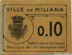 10 Centimes ALGÉRIE Miliana 1916 JPCV.02 SUP